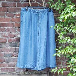 GAP Wide Leg Denim Ankle Length Pants